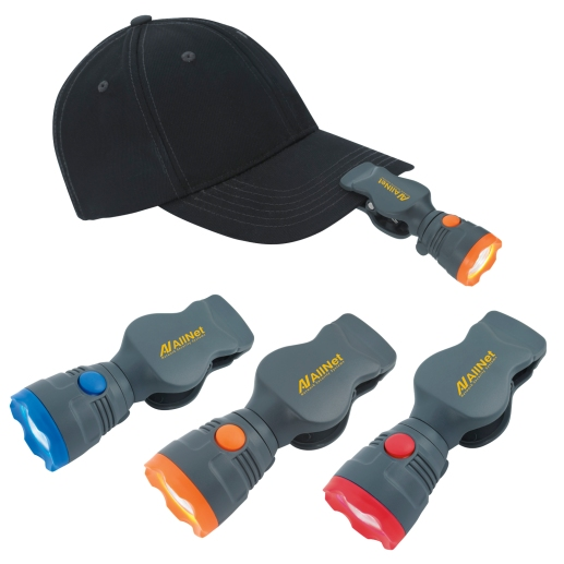 Clip on flashlight for hats