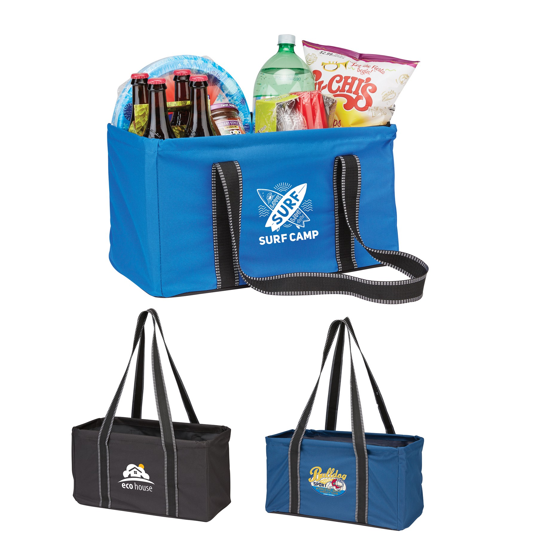 utility tote trunk organizer with logo