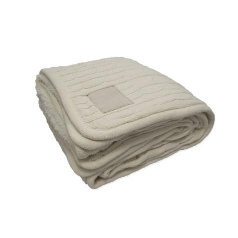 Kanata cable knit blanket